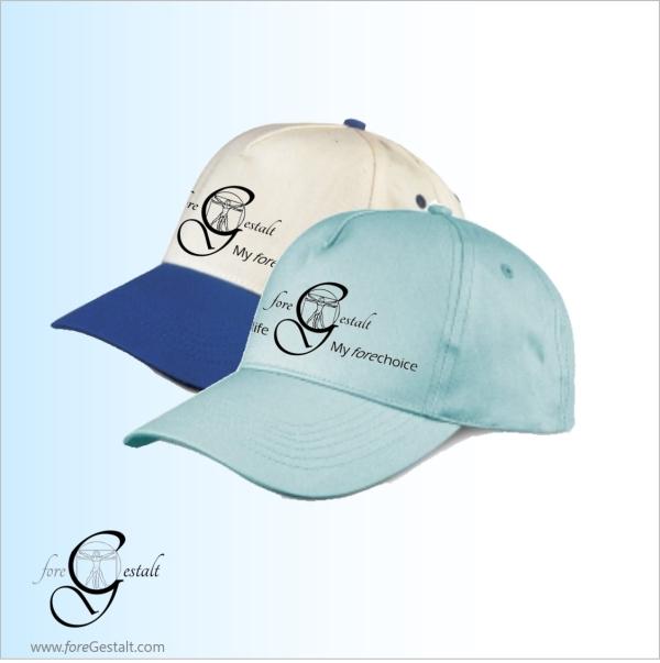 foreGestalt baseball caps - sky blue or white-blue